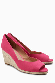 Next Peep Toe Cork Wedges