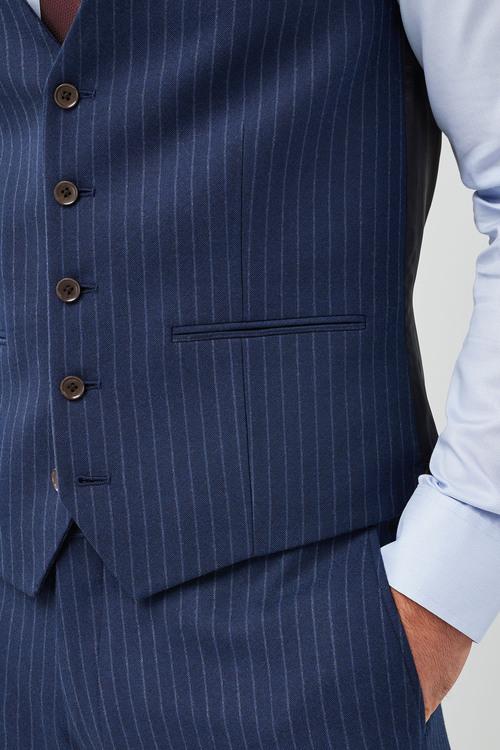 Next Slim Fit Signature Stripe Suit: Waistcoat
