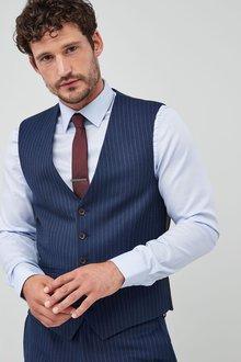 Next Slim Fit Signature Stripe Suit: Waistcoat - 214747