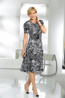 Capture European Printed A-Line Dress