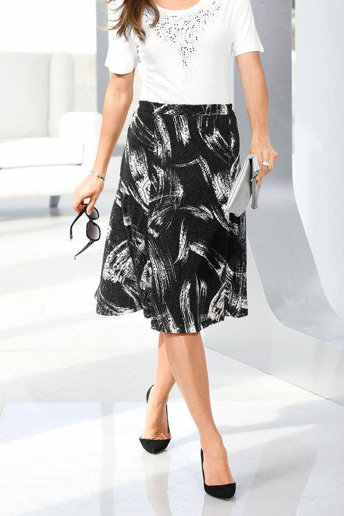 Capture European Print Mesh Skirt