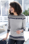 Euro Edit  Striped Sweater