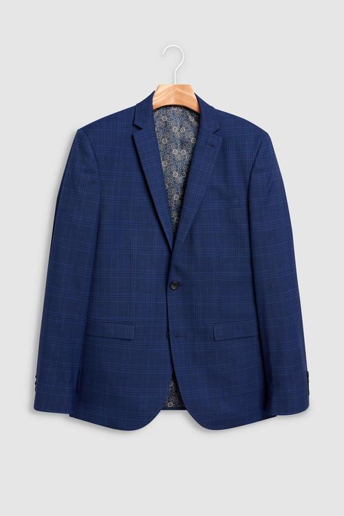Next Slim Fit Check : Suit Jacket