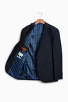 Next Tailored Fit Check Wool Blend Suit: Jacket