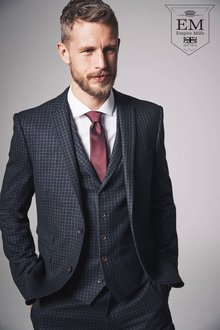 Next Skinny Fit Signature British Wool Suit: Jacket