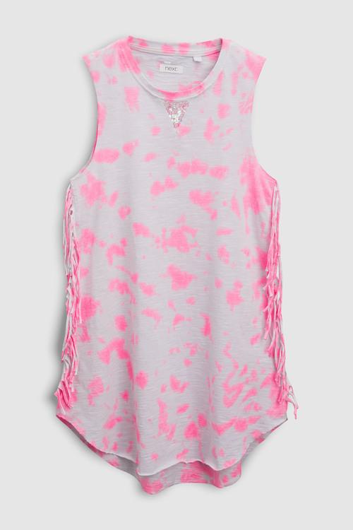 Next Tie Dye Fringed Dress (3-16yrs)