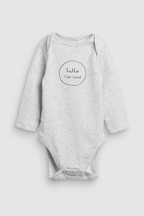 Next Slogan Long Sleeved Bodysuits Three Pack (0mths-2yrs)