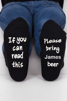 Personalised Mens Message Socks