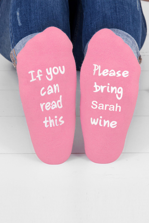 Personalised Womens Message Socks