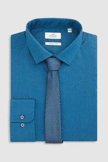 Next Tonic Shirt And Tie Set - Regular Fit Single Cuff
