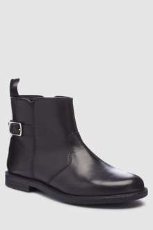 Next Leather Buckle Ankle Boots (Older)