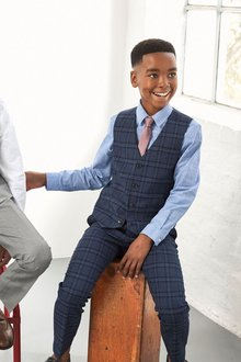 Next Check Suit Trousers (12mths-16yrs) - 214891