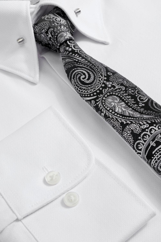 6935edabc30 Next Pin Collar Slim Fit Shirt And Paisley Pattern Tie Set Online ...