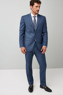 Next Tailored Fit Wool Blend Suit: Jacket - 214911