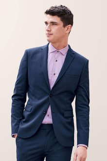 Next Stretch Twill Suit: Jacket - Skinny Fit