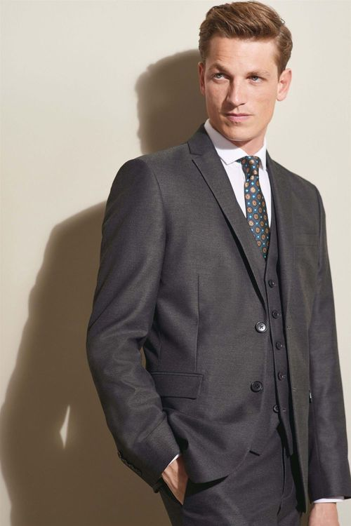 Next Textured Suit: Jacket - Tailored Fit