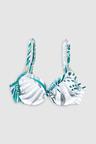 Next Leaf Print Shape Enhancing Bikini Top