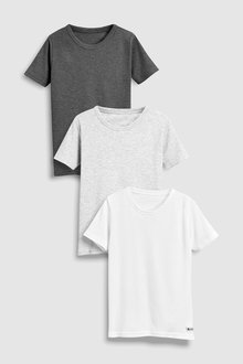 Next Rib T-Shirts 3 Pack (1.5-16yrs)