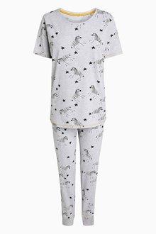 Next Womens Zebra Print Cotton Pyjamas