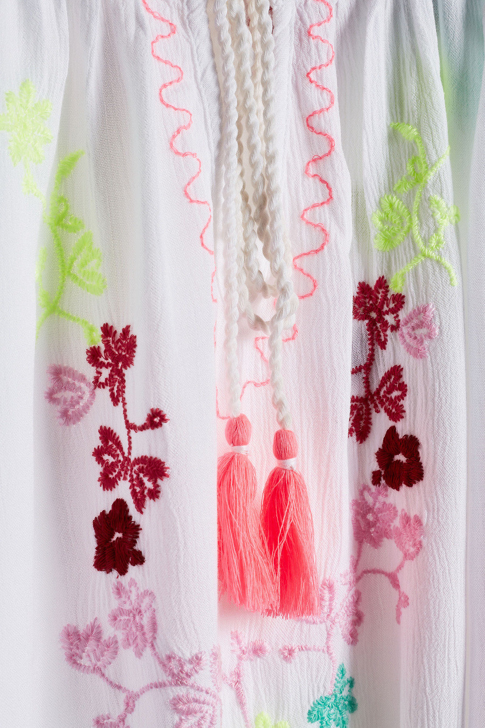 Next Neon Embroidered Top