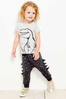 Next Dino Roar T-Shirt And Joggers Set (3mths-6yrs)