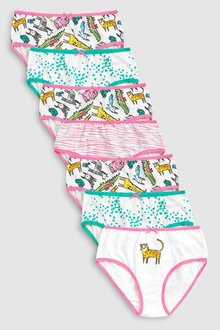 Next Zoo Animal Printed Briefs Seven Pack (1.5-12yrs)