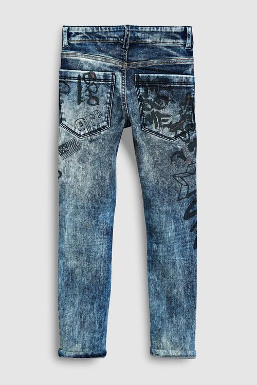 Next Graffiti Print Super Skinny Jeans (3-16yrs)