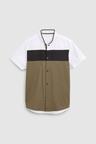 Next Short Sleeve Colourblock Baseball Collar Shirt (3-16yrs)