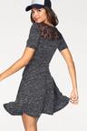 Urban Fit & Flare Lace Trim Dress