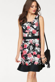 Urban Floral Fit & Flare Dress
