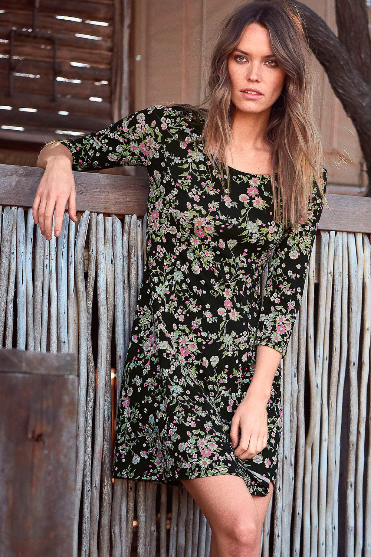 b0cb256c35a0c Urban Printed Jersey Dress Online | Shop EziBuy