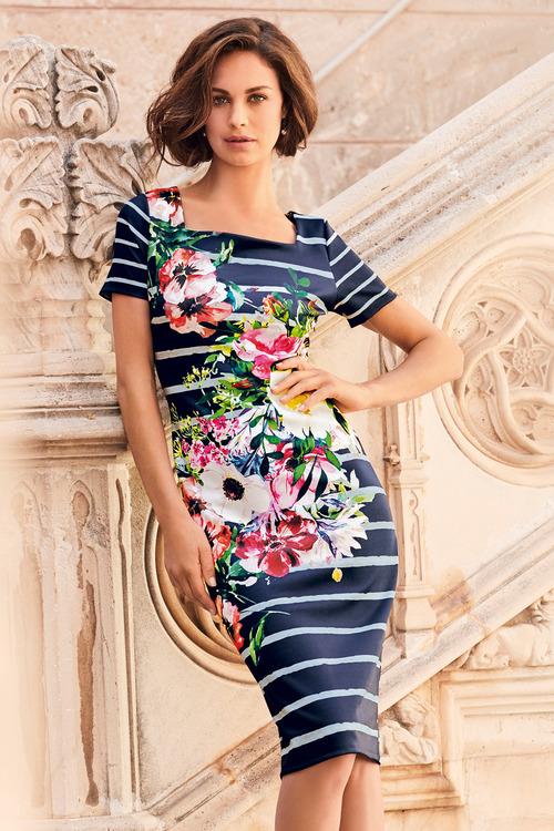 Kaleidoscope Printed Scuba Dress