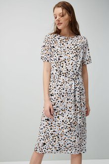 Next Printed Column Dress - Petite