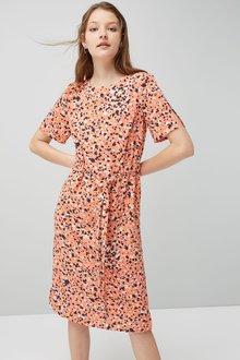 Next Printed Column Dress - Petite
