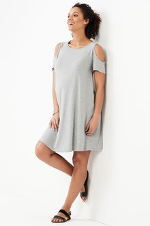 Next Maternity Cold Shoulder Dress