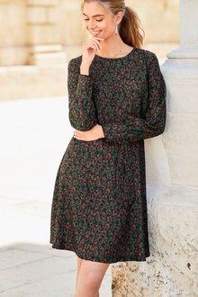 Next Spot Print Tea Dress - Tall - 215165
