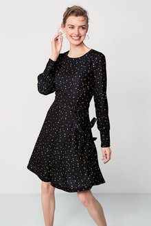 Next Spot Print Tea Dress - Tall