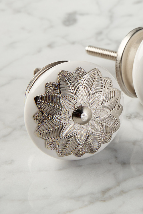 Hatfield Ceramic Knob Set of 2