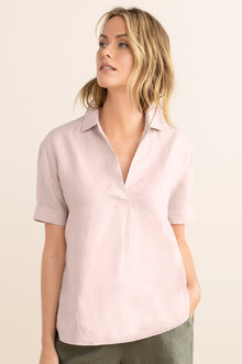 Capture Linen Half Placket Shirt
