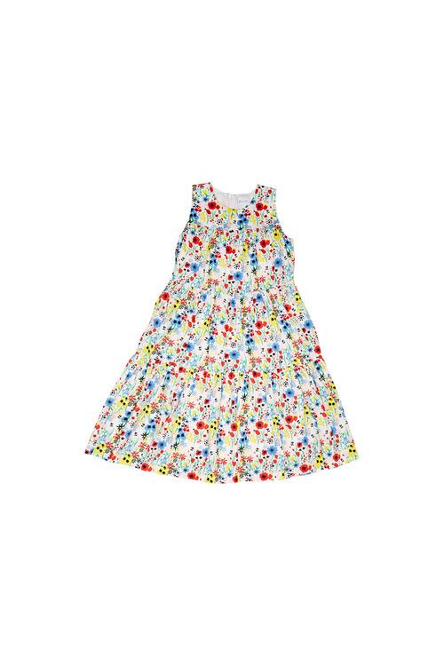 Pumpkin Patch Midi Tiered Floral Dress