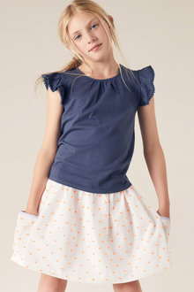 Pumpkin Patch 2 Pocket Elastic Waist Dobby Skirt