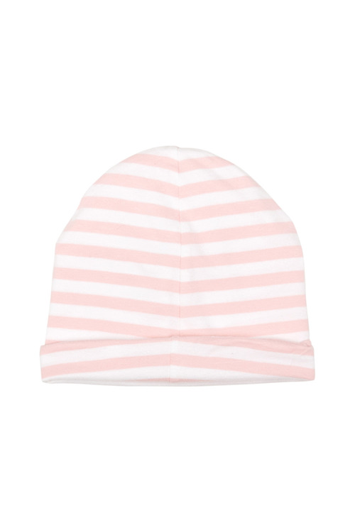 Pumpkin Patch Stripe Organic Cotton Beanie