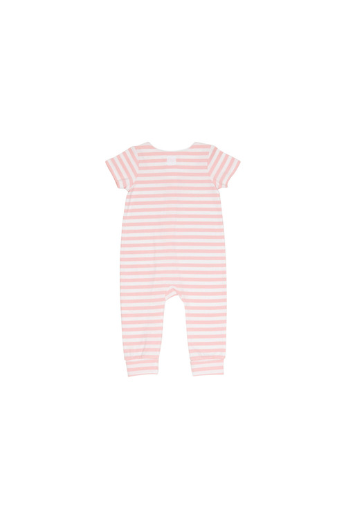 Pumpkin Patch Short Sleeve Stripe Jumpsuit