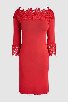 Next Lace Bardot Dress