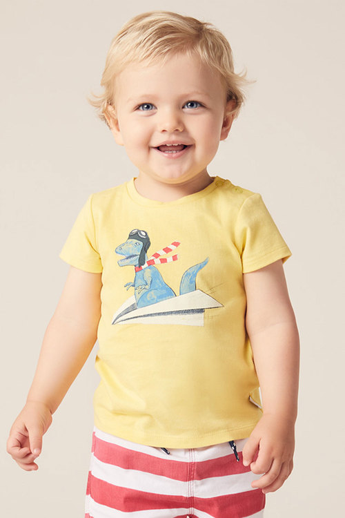 Pumpkin Patch Dino Print Tee