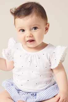 Pumpkin Patch Ruffle Mini Spot Tee