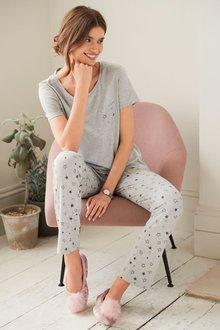 Next Cotton Blend Jersey Pyjamas