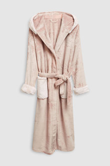 Next Faux Fur Hooded Robe