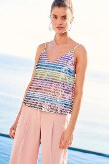 Next Stripe Sequin Cami - Petite