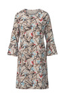 Euro Edit Printed Flute Sleeve Dress